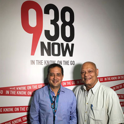 Ravishankar radio interview at the 938now breakfast club with Keith De Souza